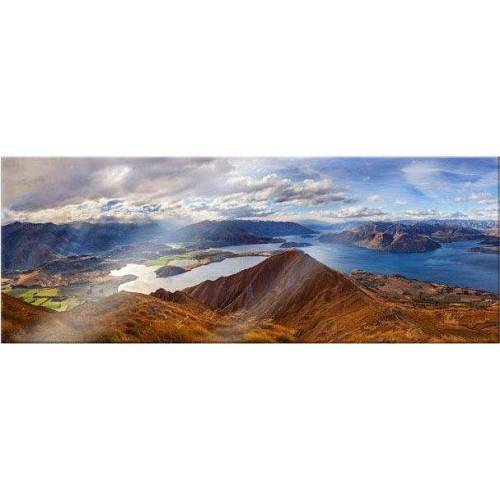 Acrylglasbild »Yan - Aussicht vom Roys Peak - Panorama«, 100/40 cm
