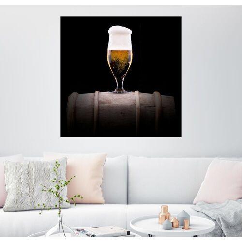 Posterlounge Wandbild, Kaltes Glas helles Bier