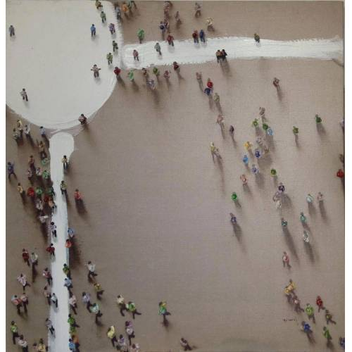 Kayoom Ölbild »Menschengruppe«, 100cm x 100cm