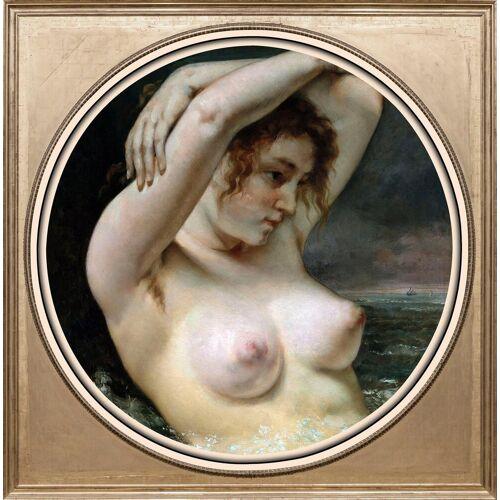 queence Acrylglasbild »Aktzeichnung I«
