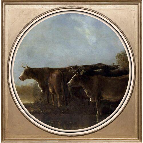 Acrylglasbild »Kühe«
