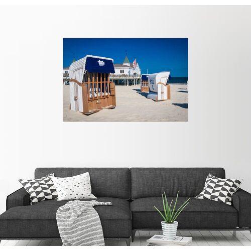Posterlounge Wandbild »Strandkörbe am Strand von Usedom in Ahlbeck«, bunt