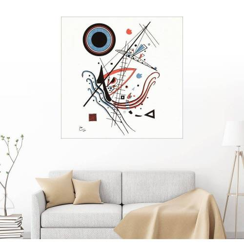 Posterlounge Wandbild - Wassily Kandinsky »Lithographie blau«, weiß