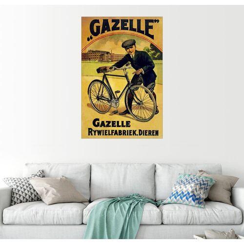 Posterlounge Wandbild »Gazelle Rywielen Fahrrad«, bunt