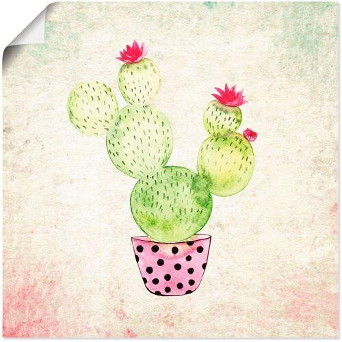 Artland Wandbild »Kaktus in Love Lustige Kaktus«, Pflanzen (1 Stück)