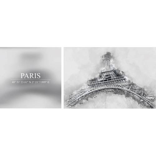 Leinwandbild »Paris«, (Set), 2er-Set