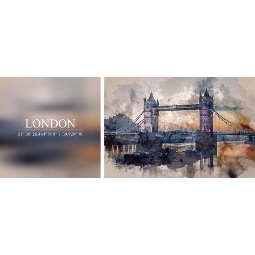 Leinwandbild »London«, (Set), 2er-Set