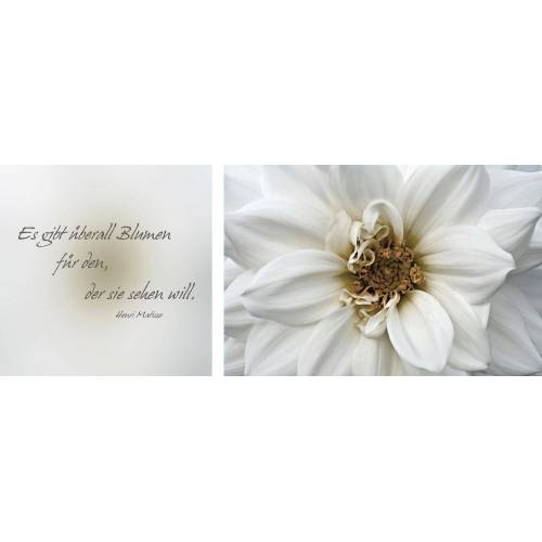Leinwandbild »Blumen«, (Set), 2er-Set