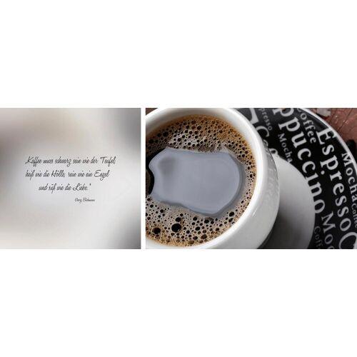 Leinwandbild »schwarzer Kaffee«, (Set), 2er-Set