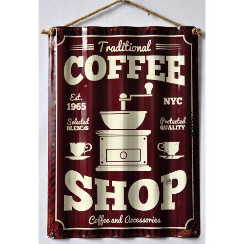 HTI-Line Blechschild »Coffee«, Bunt