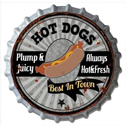 HTI-Line Blechschild »Hot Dog«, Bunt