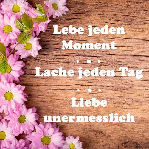 Leinwandbild »Spruch: Lebe Lache Liebe«, 35/35 cm