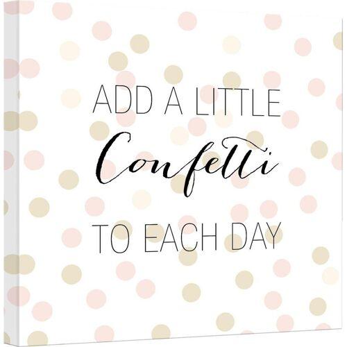Leinwandbild »Confetti & Cream - Add a little confetti«