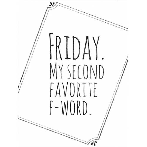 Poster »Friday My favorite second F-Word«