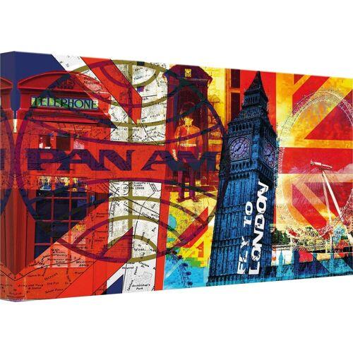 ART Wall-Art Leinwandbild »PAN AM - London«