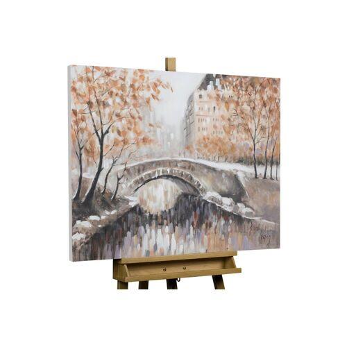 KUNSTLOFT Gemälde »Brücke zu dir«, handgemaltes Bild auf Leinwand