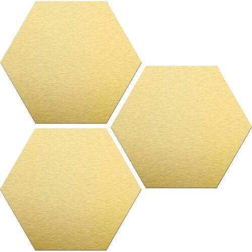 ART Wall-Art Alu-Dibond-Druck »Goldeffekt«, (Set)