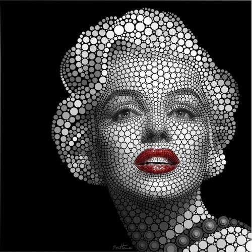 Poster »Circlism: Marilyn Monroe«