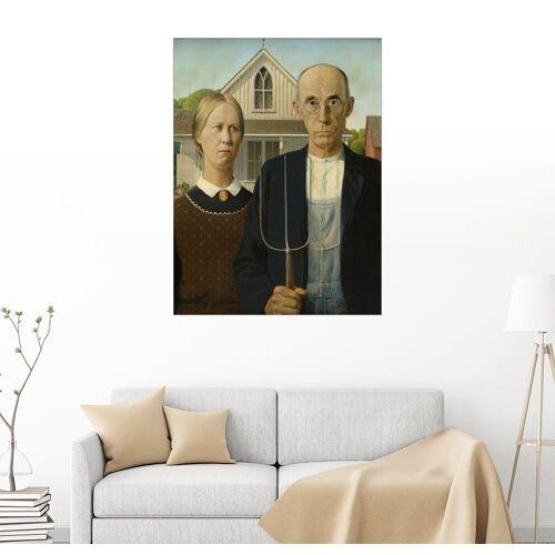 Posterlounge Wandbild, American Gothic