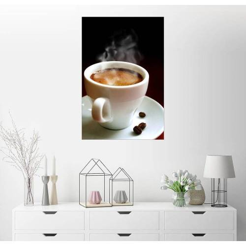 Posterlounge Wandbild, Tasse heißer Kaffee