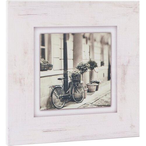 Home affaire Holzbild »Fahrrad an Hauswand«, 40/40 cm