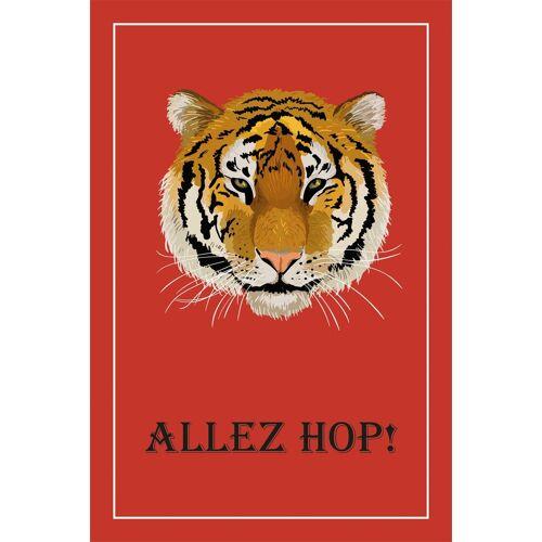 queence Leinwandbild »Tiger ALLEZ HOP!«