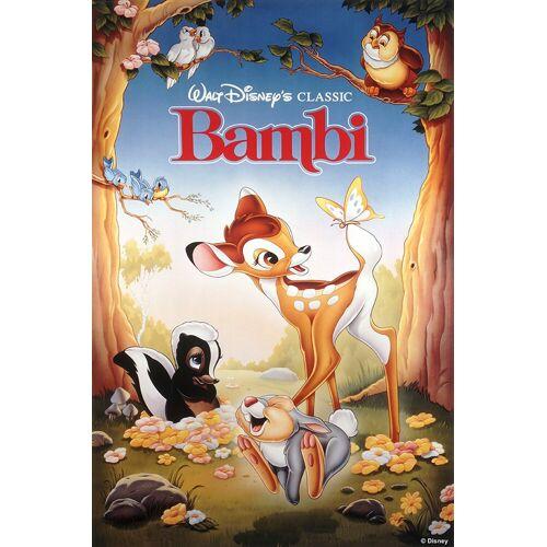ART for the home Leinwand »Bambi«, Disney, 50 x 70 cm, blau/braun/rosa