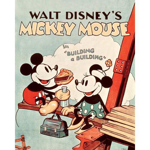 ART for the home Leinwand »Mickey Mouse Retro«, Disney, 40 x 50 cm, grün/rosa/schwarz/rot