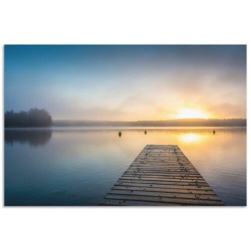 Artland Wandbild »Sonnenaufgang am See«, Sonnenaufgang & -untergang (1 Stück)