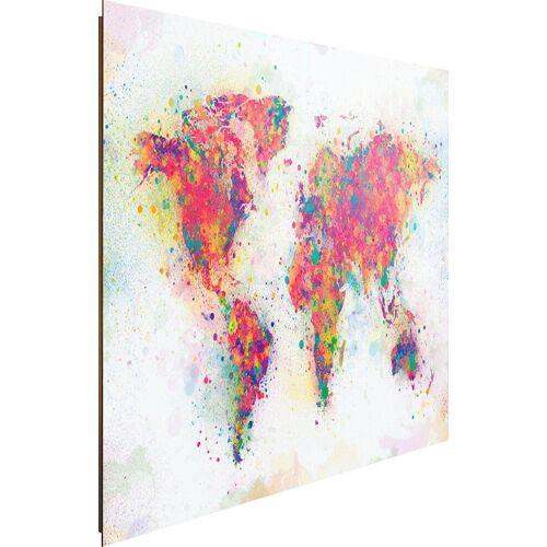 Deco-Panel »Weltkarte Farbenmix«