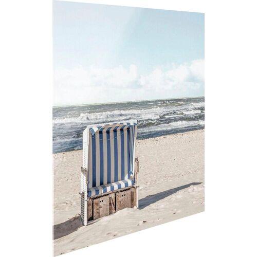Glasbild »Strandkorb«