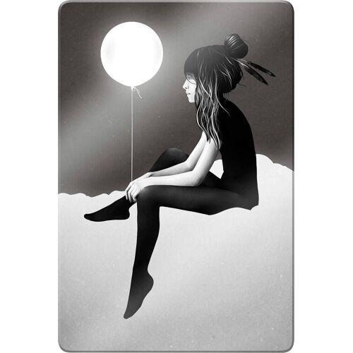 Glasbild »Ireland - No such thing as nothing by night - leuchtender Ballon«