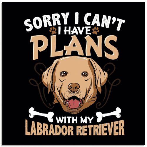 Artland Glasbild »Witziges Hundebild«, Humor (1 Stück)