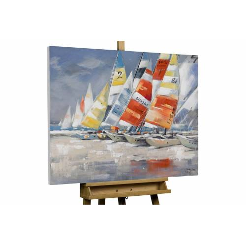 KUNSTLOFT Gemälde »Wolkenlos«, handgemaltes Bild auf Leinwand