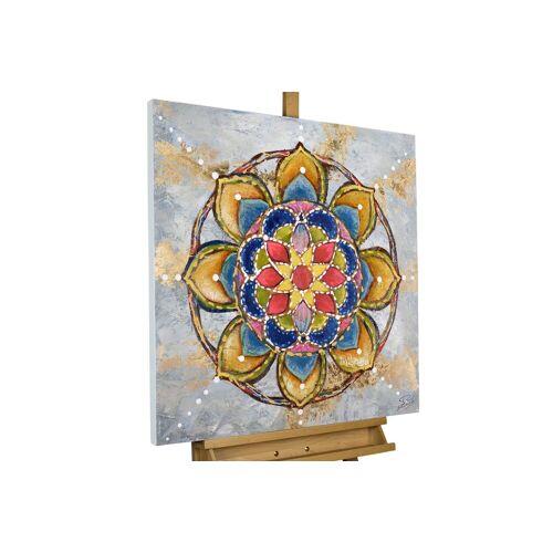 KUNSTLOFT Gemälde »Mandala Love«, handgemaltes Bild auf Leinwand