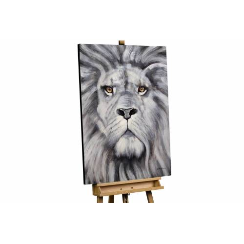 KUNSTLOFT Gemälde »Löwenmähne«, handgemaltes Bild auf Leinwand