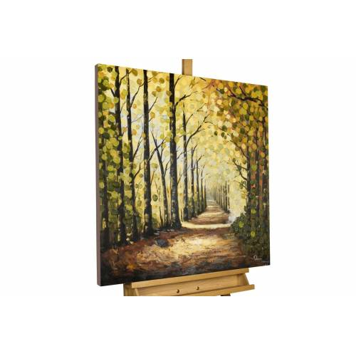 KUNSTLOFT Gemälde »Wege des Waldes«, handgemaltes Bild auf Leinwand