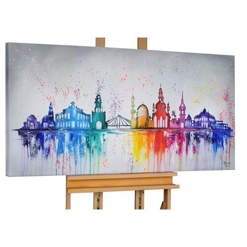 KUNSTLOFT Gemälde »Dresden Must Sees«, handgemaltes Bild auf Leinwand