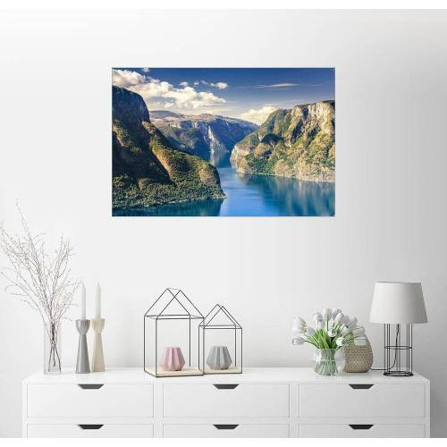 Posterlounge Wandbild, Norwegen - Aurlandsfjord