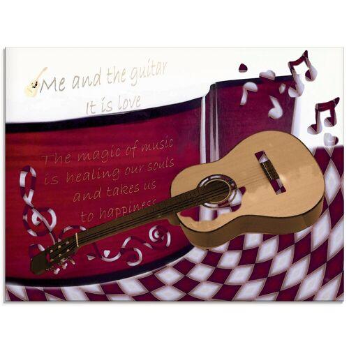 Artland Glasbild »Die Gitarre und Ich«, Instrumente (1 Stück)