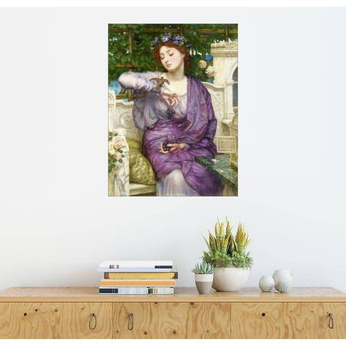 Posterlounge Wandbild, Lesbia mit ihrem Spatzen