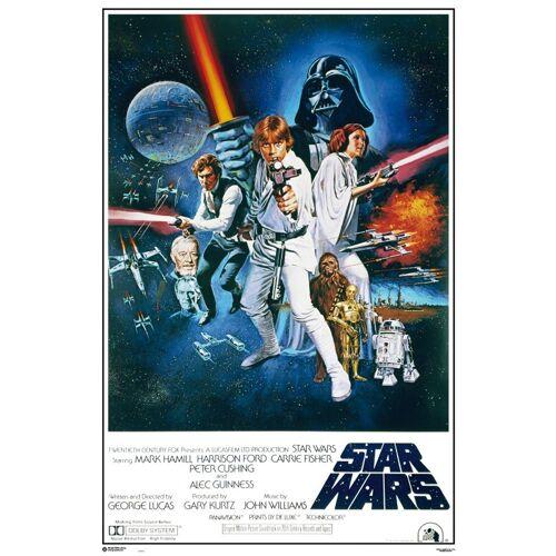 empireposter Poster »Star Wars Maxi Poster«, Star Wars - Orange Sword of Darth Vader (kein Set), nur das Poster ohne Rahmen, bunt   ohne Rahmen