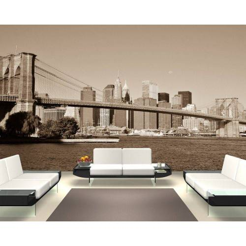 Bilderdepot24 Fototapete, Fototapete Brücke New York, selbstklebendes Vinyl