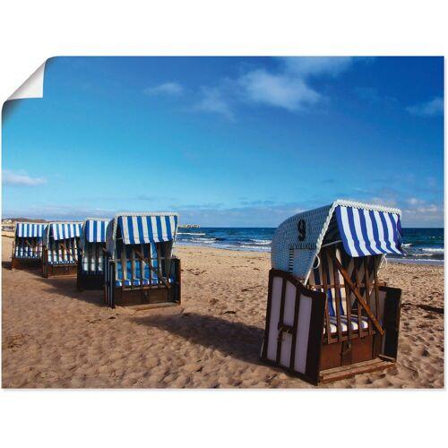 Artland Wandbild »Strandkörbe«, Strand (1 Stück)
