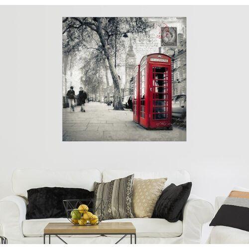 Posterlounge Wandbild, Postkarte von London