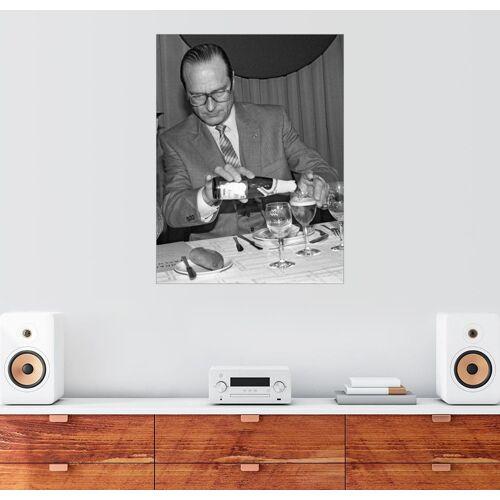 Posterlounge Wandbild, Jacques Chirac bei einem Mittagessen