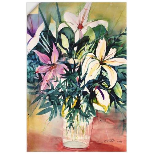 Artland Wandbild »Lilien in Vase«, Blumen (1 Stück)