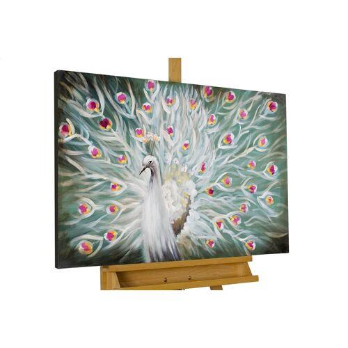KUNSTLOFT Gemälde »Glanz des Pfaus«, handgemaltes Bild auf Leinwand