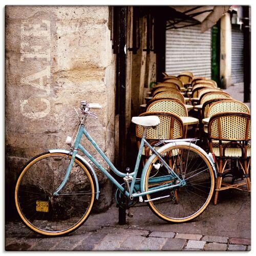 Artland Wandbild »Fahrrad am Café«, Fahrräder (1 Stück)
