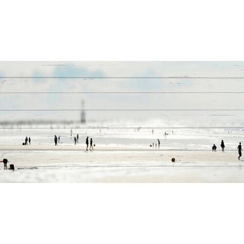 queence Holzbild »Miniatur Strand«, 40x80 cm